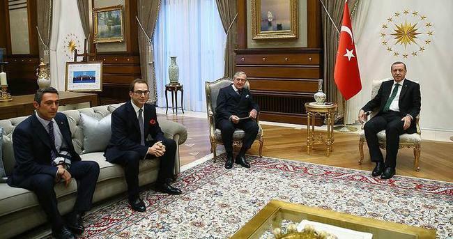 Cumhurbaşkanı Erdoğan Koç ailesini kabul etti