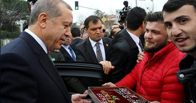 Cumhurbaşkanı Erdoğan'a doğum günü Sürprizi