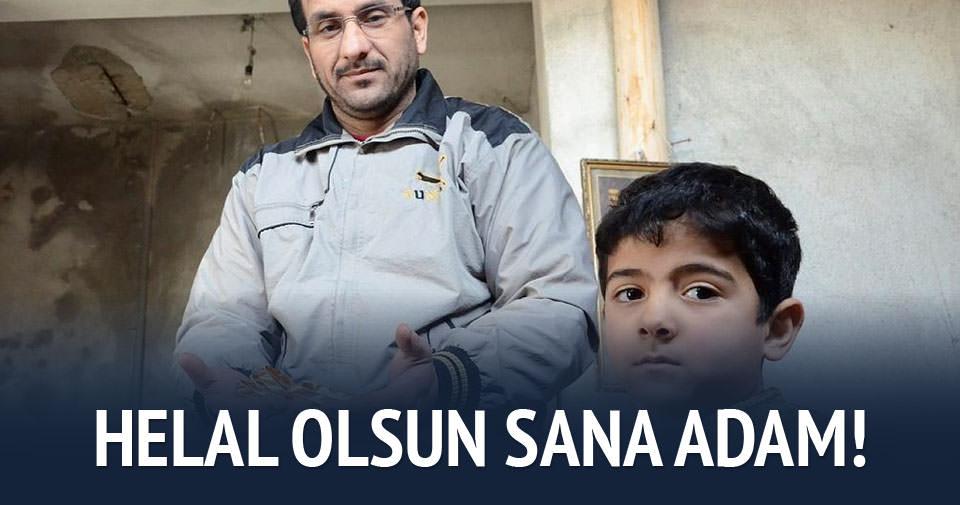 Suriyeli Abbas'tan erdemli hareket!