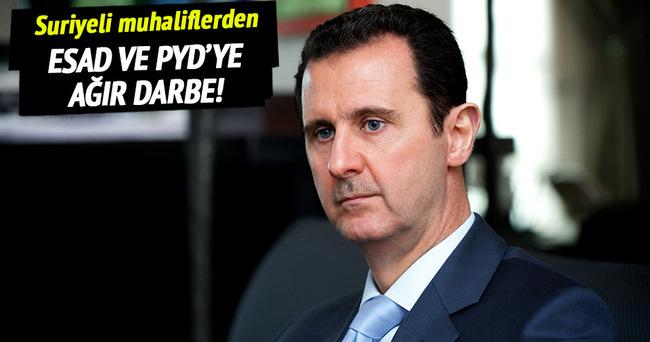Muhaliflerden rejim ve PYD'ye büyük darbe!