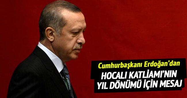 Cumhurbaşkanı Erdoğan'dan Hocalı mesajı