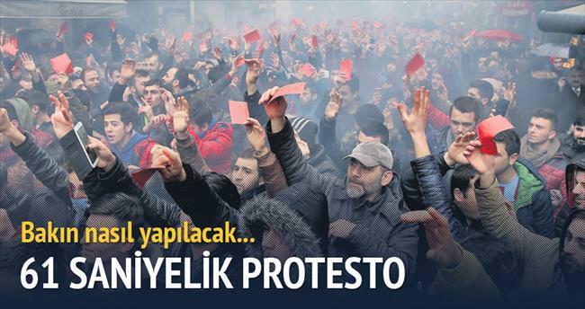 61 saniyelik protesto
