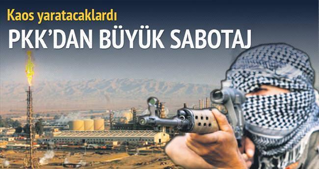 PKK'dan büyük sabotaj
