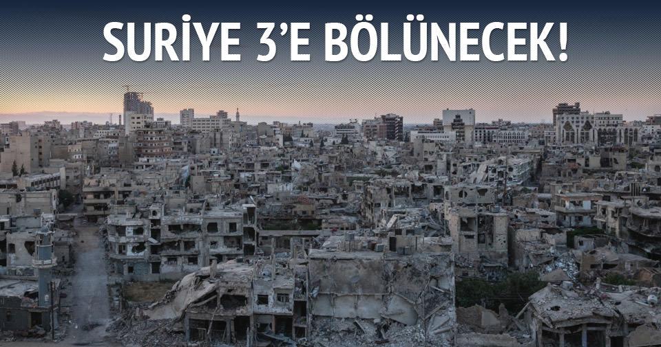 'Suriye 3'e bölünecek' iddiası