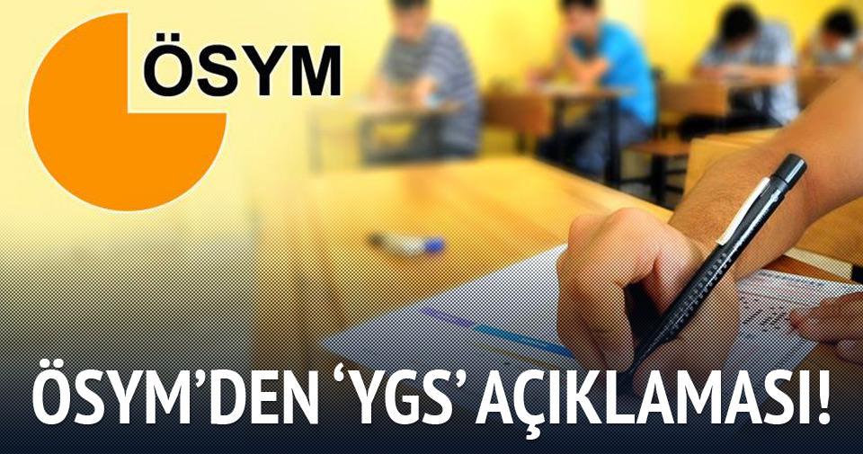 ÖSYM'den 'YGS' açıklaması