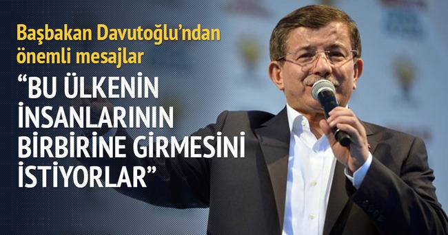 Başbakan Davutoğlu: Türkiye'nin 90'lı yılları yaşamasını bekleyenler var