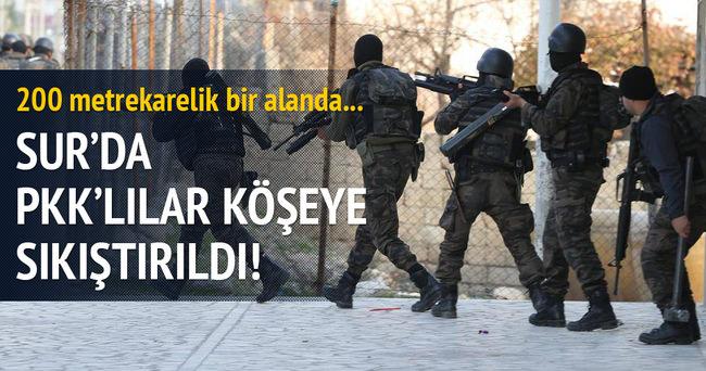 Sur'da PKK'lılar kıstırıldı