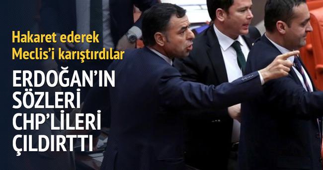 Cumhurbaşkanı Erdoğan'ın sözleri CHP'lileri çıldırttı