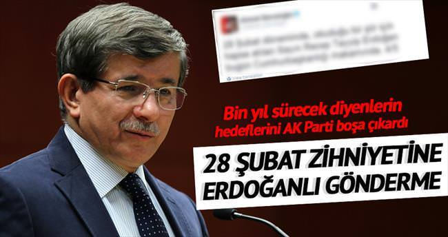 Davutoğlu'ndan 28 Şubat tweet'i