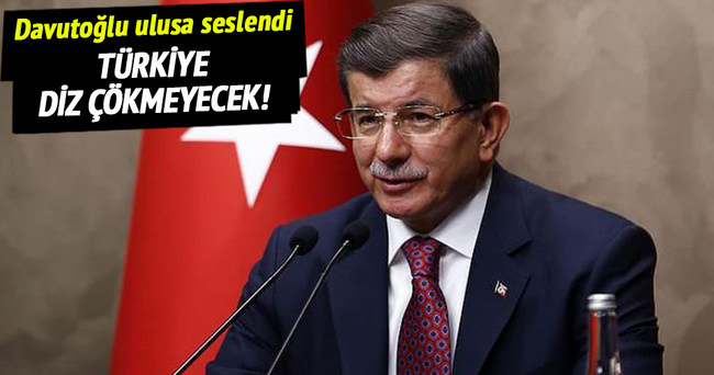 Başbakan Davutoğlu, ulusa seslendi