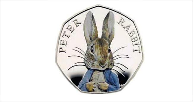 'Tavşan Peter' bozuk para üzerine basıldı