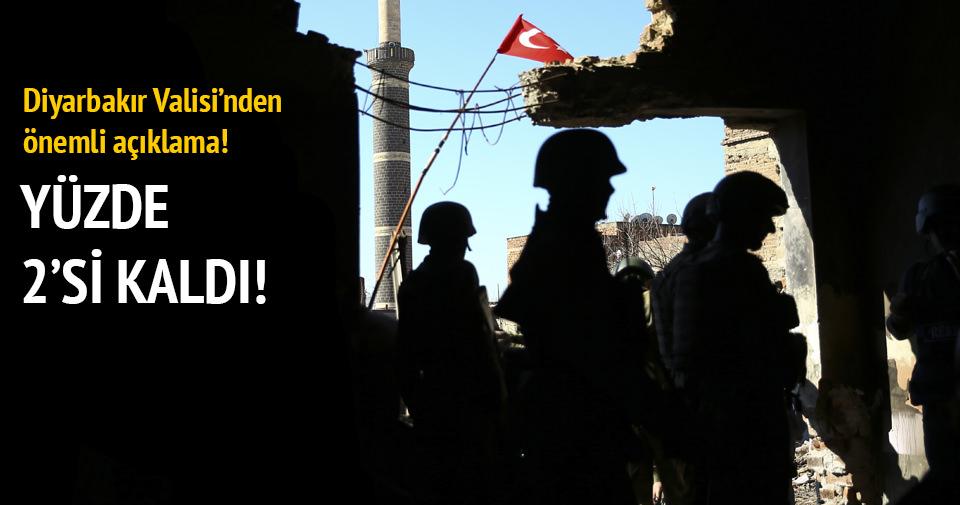 Diyarbakır Valisi'nden flaş açıklama: Yüzde 98 temizlendi