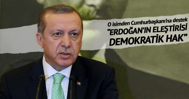 Cumhurbaşkanı Erdoğan'ın eleştirisi demokratik hak