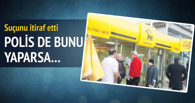 PTT soyguncusu 6 yıllık polis çıktı