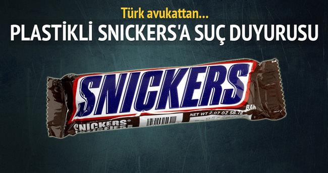 'Plastikli Snickers'a suç duyurusu