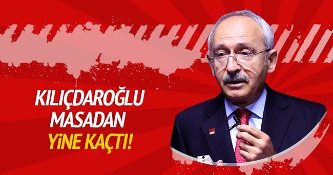 Kılıçdaroğlu masadan yine kaçtı