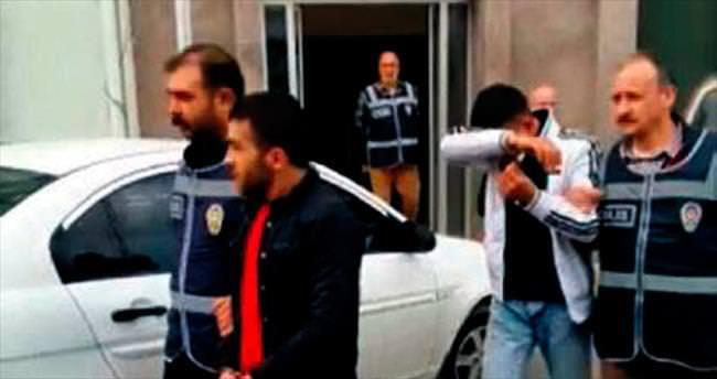 Darp ve gasp zanlısı dört kişi tutuklandı