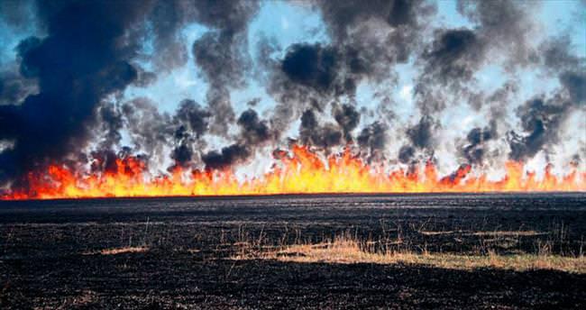Silifke Göksu Deltası yanıyor