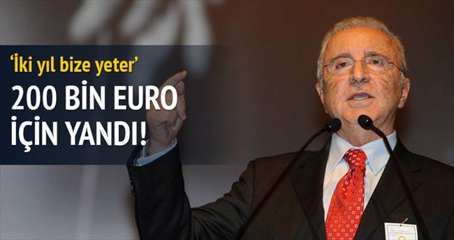200 bin euro için yandı