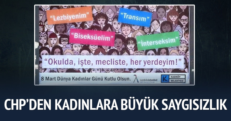CHP'den kadınlara büyük saygısızlık