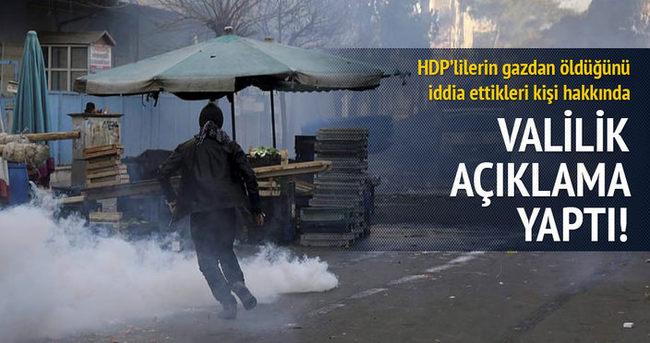 Diyarbakır Valiliği: HDP yöneticisi gazdan değil, kalp krizinden öldü