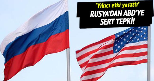 Rusya'dan ABD'ye 'yaptırım' tepkisi!