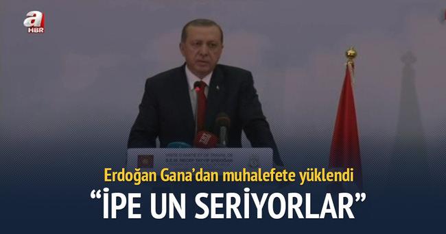 Erdoğan: Ana muhalefet partisinin yaptığı ipe un sermektir