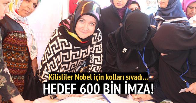 """Kilisliler, """"Nobel Barış Ödülü"""" için kolları sıvadı"""