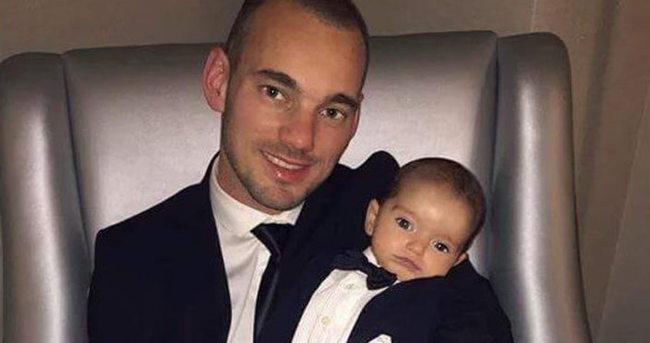 Sneijder'in ilacı oğlu