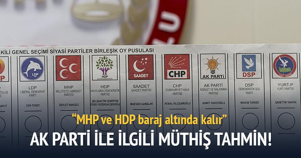 Sencar: MHP ve HDP baraj altında kalır