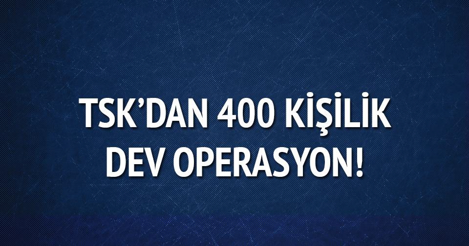 Şanlıurfa'da 300 asker 100 korucuyla PKK'ya operasyon