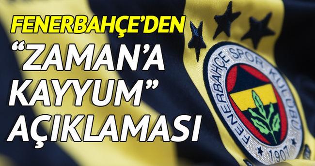 Fenerbahçe'den Zaman'a kayyum açıklaması