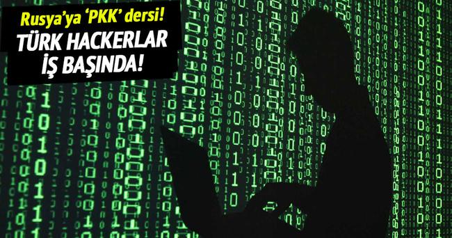 Türk hackerlardan Rusya'ya 'PKK' dersi