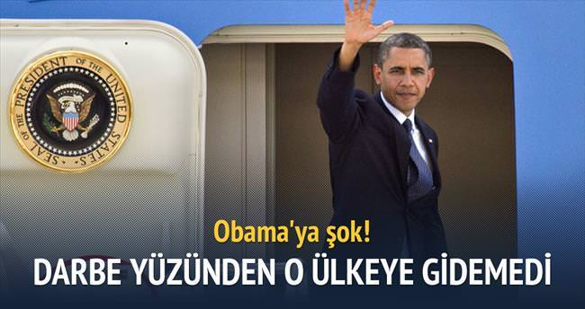 Obama'nın programına darbe engeli