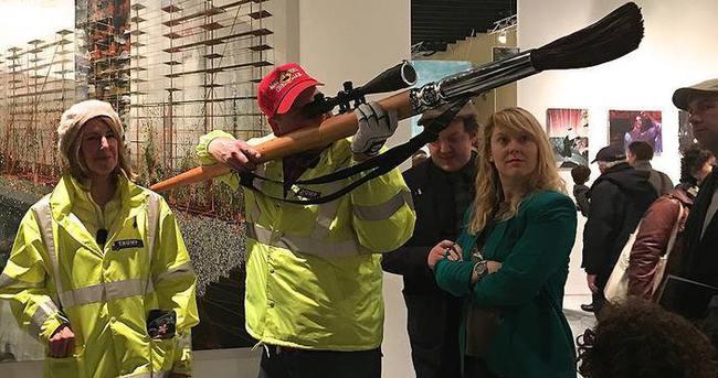 Trump karşıtı gezici sanat projesi New York'ta