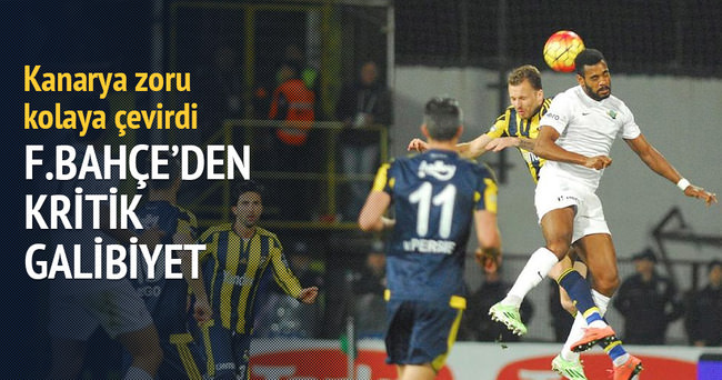 Fenerbahçe Akhisar engelini rahat geçti