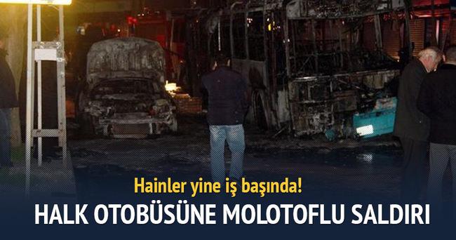İstanbul Kağıthane'de halk otobüsüne molotoflu saldırı