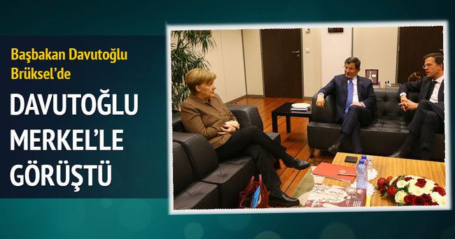 Başbakan Ahmet Davutoğlu, Merkel ile görüştü