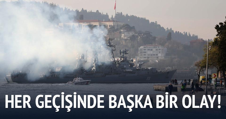 İstanbul Boğazı'ndan böyle geçtiler