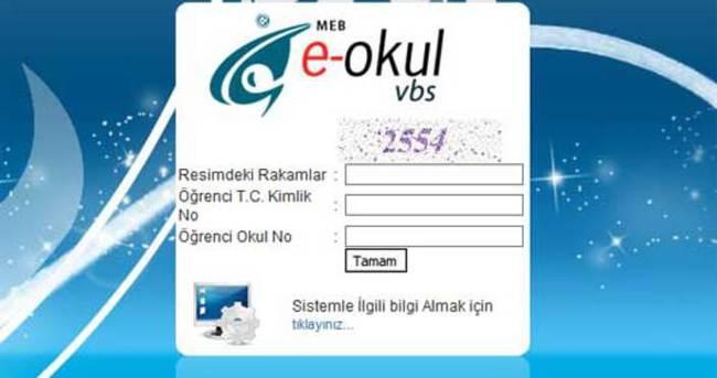 E-Okul VBS giriş sistemi