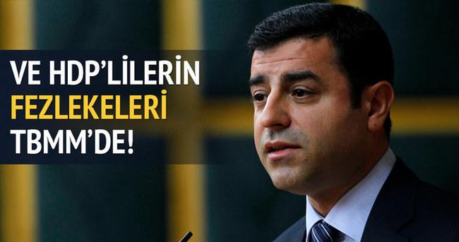 HDP'lilerin fezlekeleri TBMM'de
