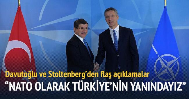 Başbakan Davutoğlu ve Stoltenberg'den ortak açıklama