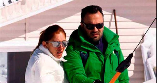 Hafta sonu kayak keyfi yaptılar