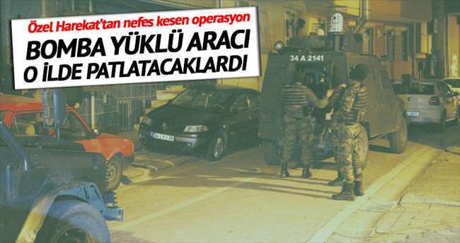 O bomba yüklü araç İstanbul'da patlatılacaktı
