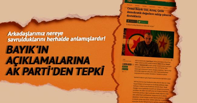 Cemil Bayık'ın açıklamalarına AK Parti'den tepki