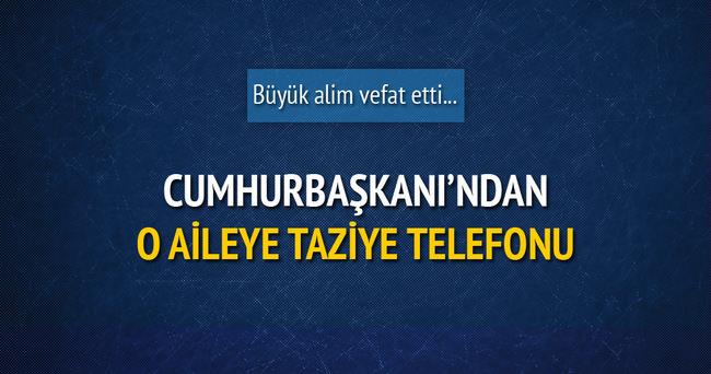 Cumhurbaşkanı Erdoğan, Ahmet Yaşar'ın ailesine başsağlığı telefonu