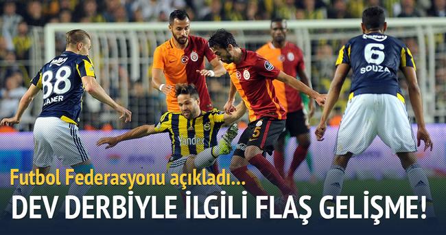 Galatasaray - Fenerbahçe derbisinin saati değişti