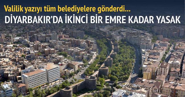 Diyarbakır'da ikinci bir emre kadar yol çalışmaları durduruldu!