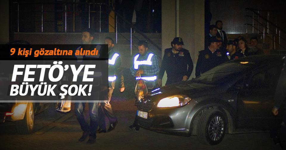 Gaziantep'te FETÖ/PDY operasyonu: 9 gözaltı