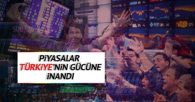 Piyasalar Türkiye'nin gücüne inandı